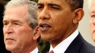 Bush, Obama take veiled jabs at Trump