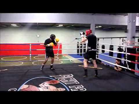 Sugar Boy and Russian Boxer From Italy in Boxing Gym in Brooklyn,ny 11223