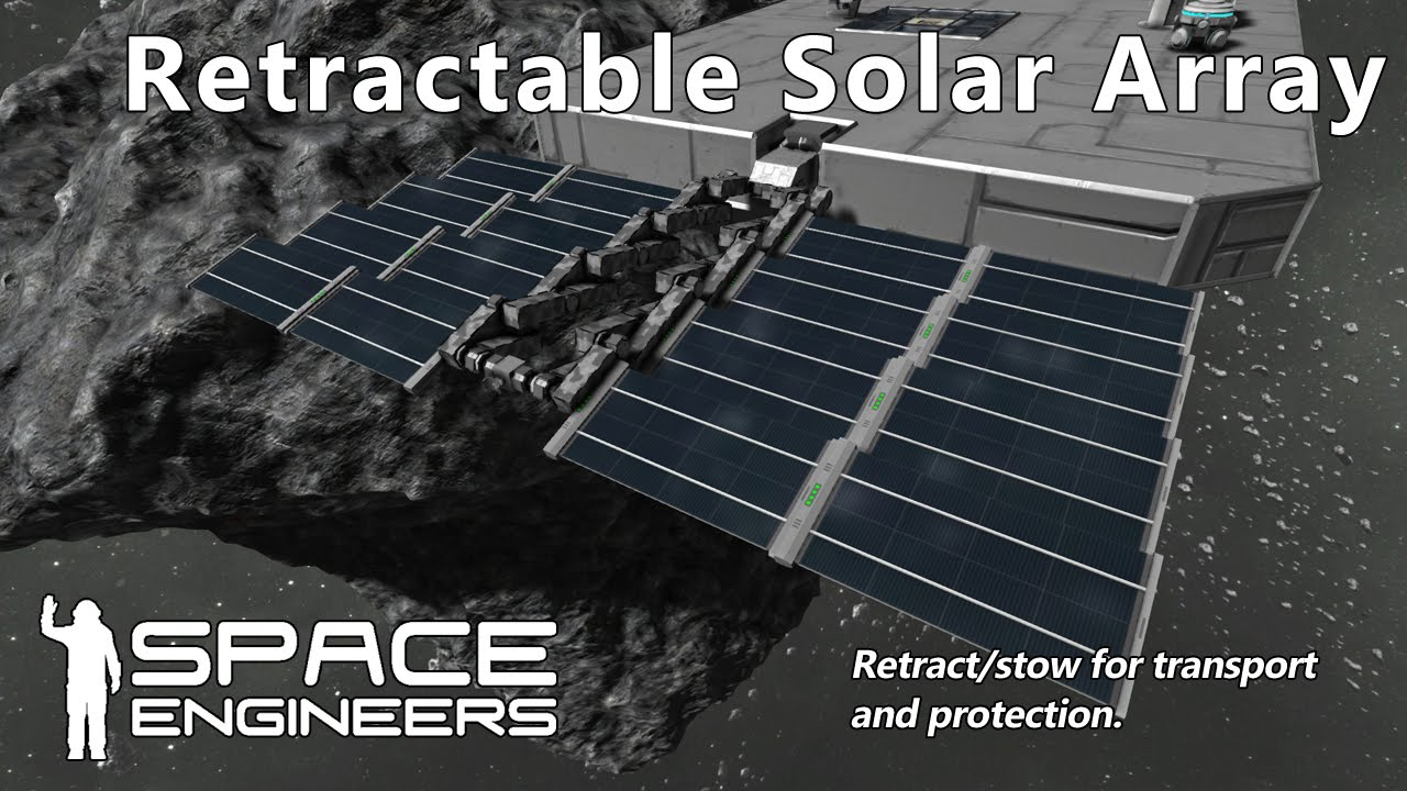 Space Engineers Retractable Solar Array Youtube