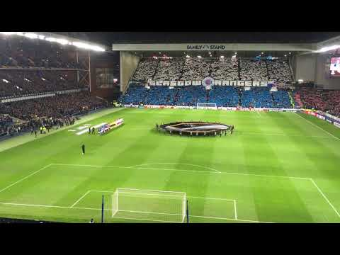 Rangers 0-0 Spartak Moscow Europa League Players Walk Out