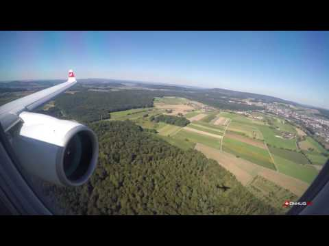 Wonderful CS100 WINGVIEW LANDING ZRH RUNWAY 14