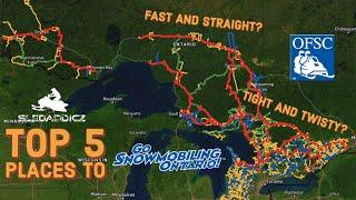 TOP 5 Destinations To Snowmobile Ontario