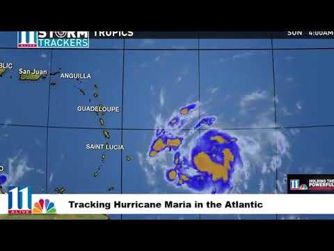Tracking Hurricane Maria, moving toward Puerto Rico. | Sunday, 17 September 2017