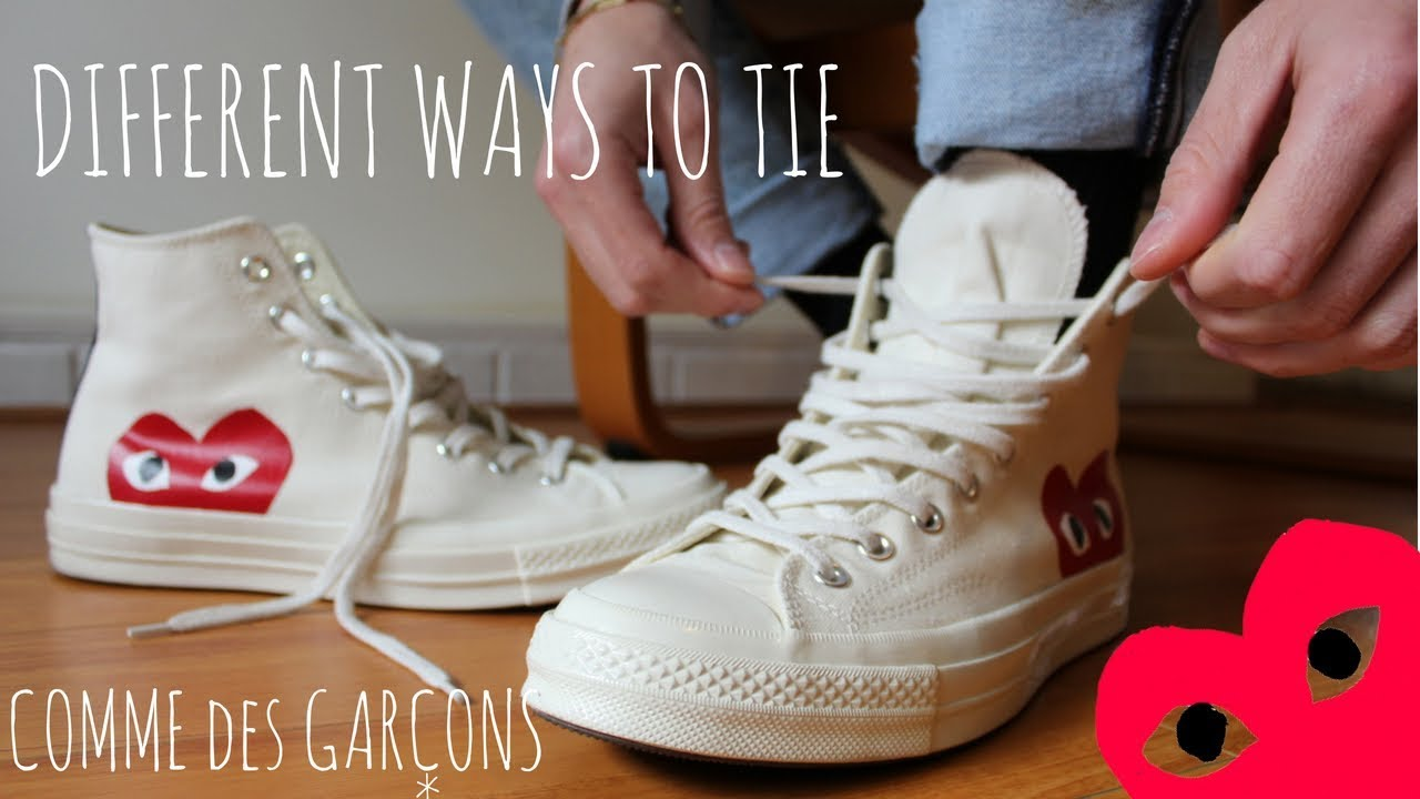 0c61f12abcf4 DIFFERENT WAYS TO TIE CDG CONVERSE CHUCK TAYLORS - YouTube