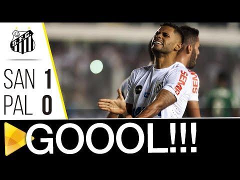 Santos 1 x 0 Palmeiras | GOL | Brasileirão (14/06/17)