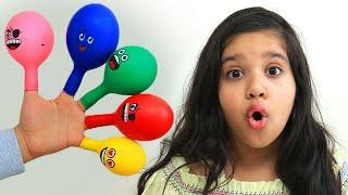 Surprise YUPI STROWBERRY KISS & KINDER JOY EGGS Dalam Balon Karakter BALLOON FINGER FAMILY SONG