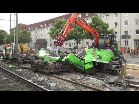 [ÜSTRA] Stadtbahnunfall Wallensteinstraße