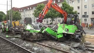 [ÜSTRA] Stadtbahnunfall Wallensteinstraße + Verschrottung TW 6000