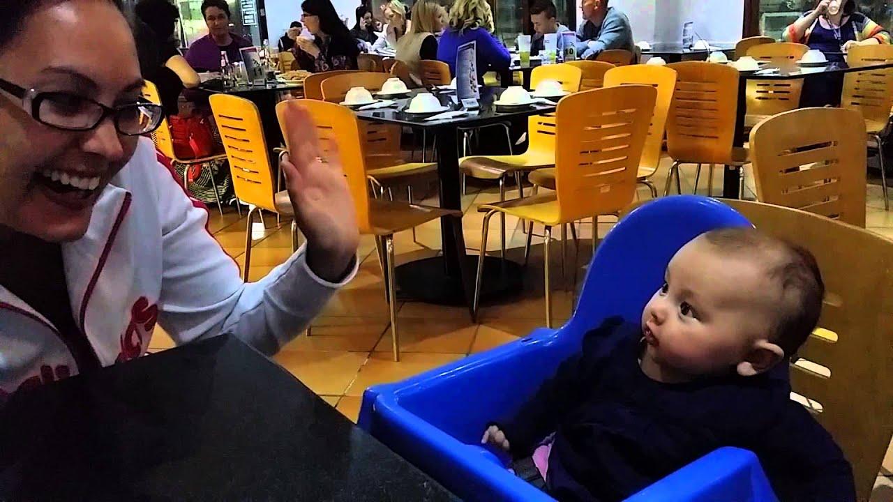 Download Copying mummy's hand raising!