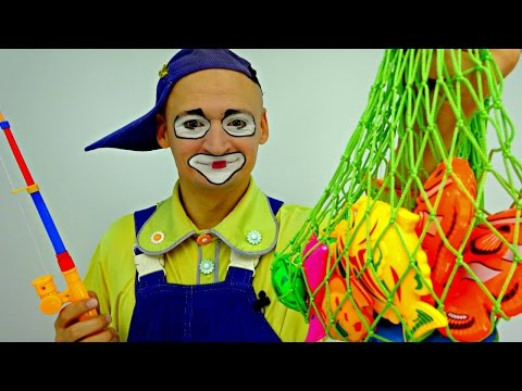Games For Kids. Andrew The Clown Goes Fishing!