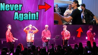 This has never happened.... Why Don't We Concert   Oscar Guerra