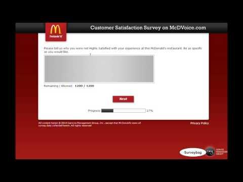 mcdvoice.com McDonald's Survey Video by Surveybag