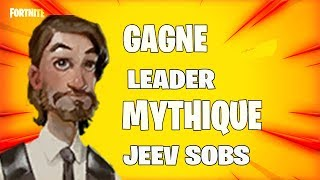LIVE GAGNE LEADER MYTHICAL SURVIVANT JEEV SOBS FORTNITE SAUVER THE WORLD PS4 EN