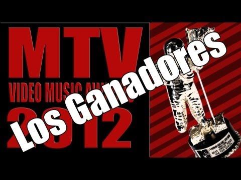 MTV Video Music Awards 2012 Los Ganadores!