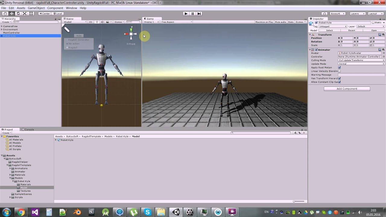 Unity3d  Ragdoll and Transition to Mecanim