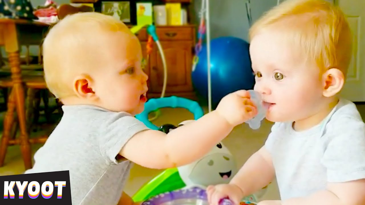 Battle of the Twins    Baby Cute Funny Moments