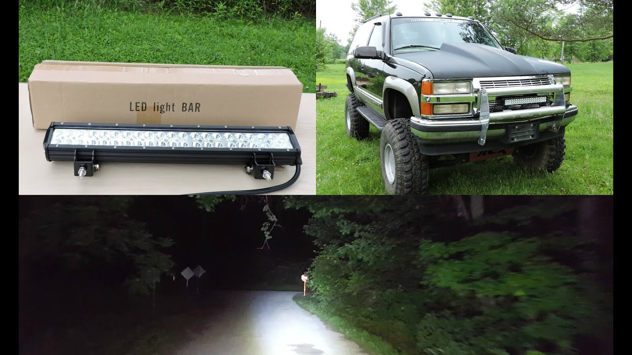 Great Affordable Chinese CREE LED Light Bar Review (U Box)   YouTube Nice Design