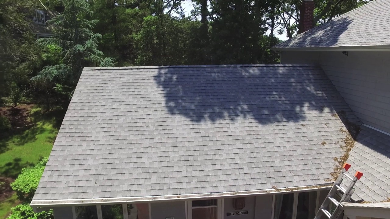 Drone Video Of Water And New Gaf Fox Hollow Grey Roof In