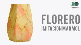Florero de vidrio imitación marmol | Lidia Gonzalez Varela en Manos a la Obra