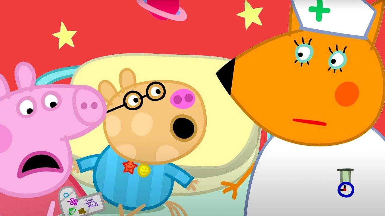 Peppa Pig Português Brasil | Chamando o médico para o Pedro | Desenhos Animados