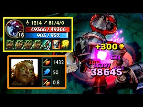 1400+ AD ILLAOI E vs 48000+ HP CHO'GATH! 1 Feast = 5000+ Damage!