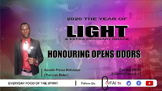 Apostle Prince Mafukidze - Honouring opens doors (full)