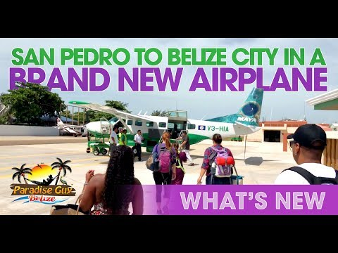 FLY San Pedro to Belize International on Brand New Maya Island Airplane