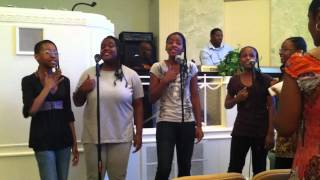 C5 GOSPEL GROUP HOLY GIRL ROCK ,GOD HAS SMILE ON ME JULY 13.2012 GOD VOICES ENT