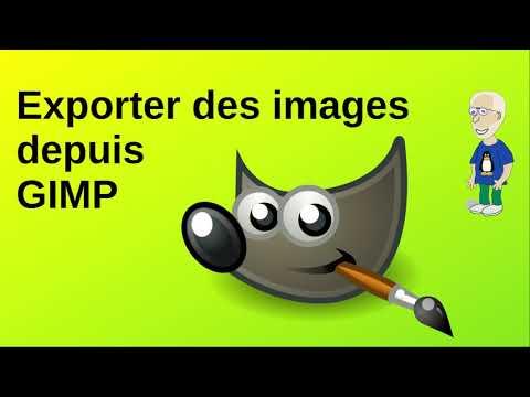 Exporter des images depuis Gimp
