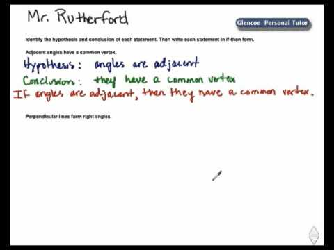 Write a Conditional in IF THEN Form - YouTube