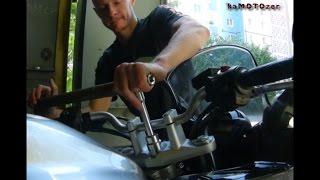 Затяжка подшипника руля на мотоцикле Yamaha