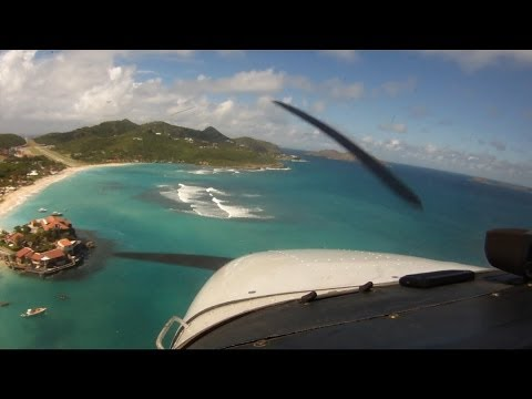 St  Barth   TFFJ Landing Runway 28 - Was psychologically the most demanding landing I've ever done!
