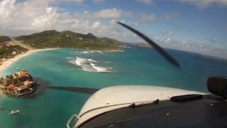 Psychologically the most demanding landing I've ever done! - St Barth TFFJ Landing Runway 28