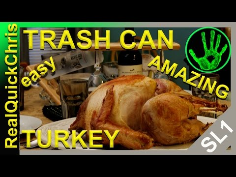 how to cook a turkey in a trash can