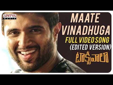 maate-vinadhuga-full-video-song-(edited-version)-||-taxiwaala-movie-||-vijay-deverakonda||sid-sriram