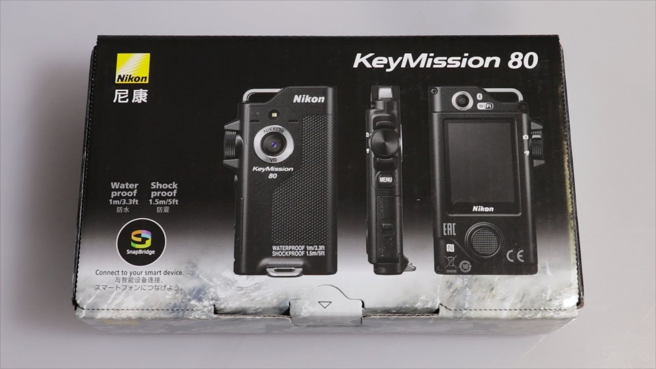 Silver Nikon KeyMission 80 Digital Action Camera With Box /& Accessories