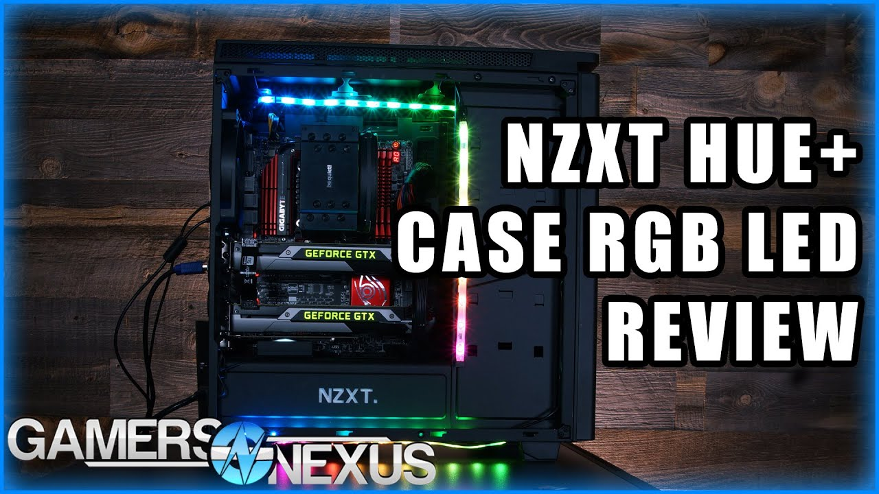 NZXT HUE+ RGB LED Controller & Case Lighting Review - YouTube
