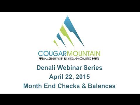 Month End Checks & Balances