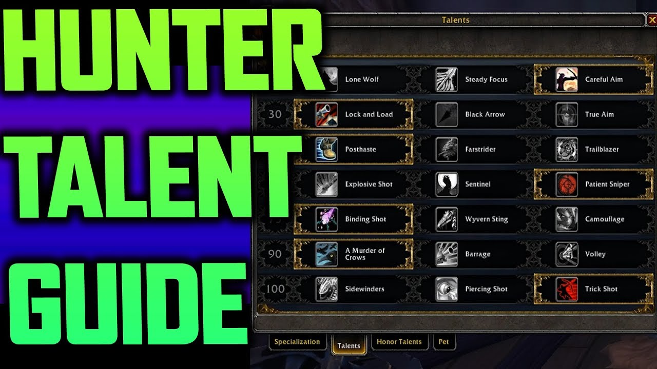 talent guide marksmanship hunter patch 7 3 youtube rh youtube com world of warcraft survival hunter talent build World of Warcraft Human Hunter