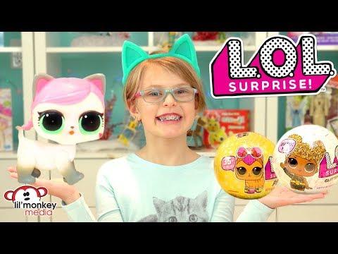 😂  LOL Surprise Dolls!  LOL Pets, Glitter & More! Tinkle, Spit, Cry or Color Change Pets & Dolls!