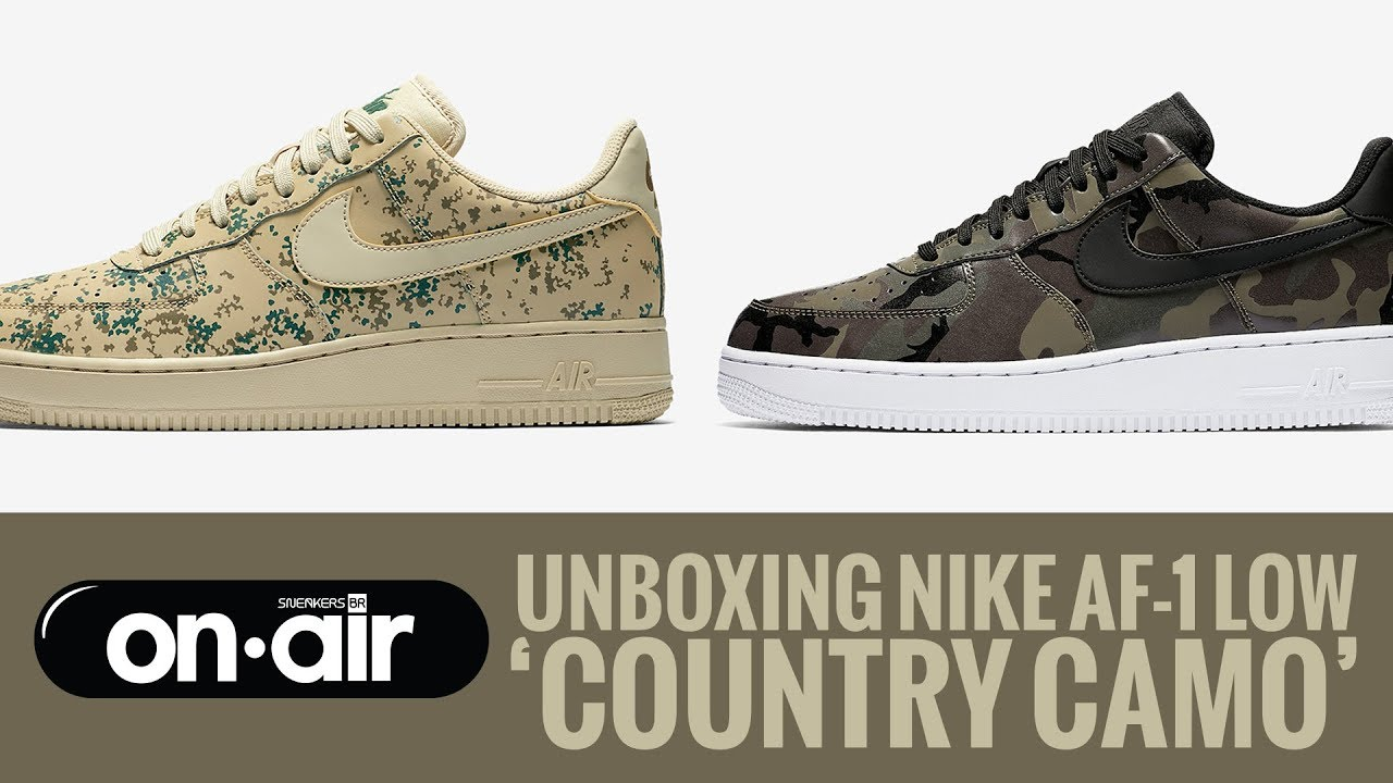 SBROnAIR Vol. 45 Unboxing Nike Air Force 1 Low 'Country Camo' #piranomeuair