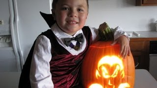 Betty's Husband, Rick, Carves Jack O'lantern With Grandson, Carter For Halloween
