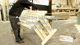 MC Timber Walk In Picnic Table Video Assembley Guide