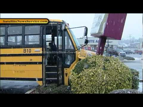 Mutliple Injuries in School Bus Accident- Somerset, MA (02-29-12)