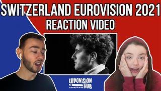 Switzerland | Eurovision 2021 Reaction | Gjon's Tears - Tout l'Univers | Eurovision Hub