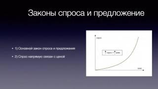 Основные законы функционирования рынков! ( 1 часть)