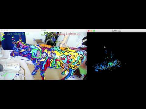 Kudan SLAM - mapping and tracking a desk