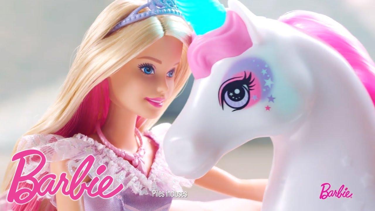 Barbie princesse de r ves et sa licorne arc en ciel sons - Barbie licorne ...