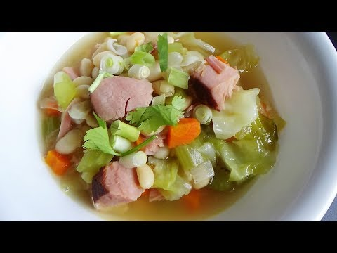 Cabbage And Bean Soup - Menu Leftover Ham #5