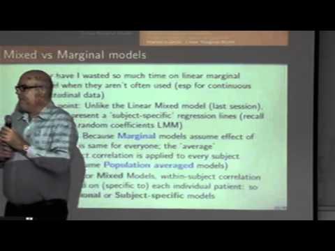 Longitudinal Data Analysis Conference by  Dr. Cameron Hurst 2014 Part 2